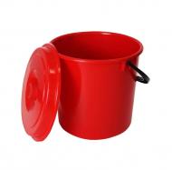 Ведро пищевое с крышкой Бликпласт 10 л Красный (MBK-60133)