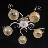 Люстра стельова Flora з 5 золотистими плафонами (ML004/5)