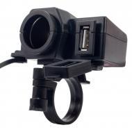 Авто/Мото USB зарядний пристрій з прикуривателем D-961 2in1