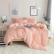 Комплект постельного белья полуторный Еней-Плюс МІ0024 Персиковый