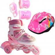 Роликовые коньки Набор Happy Combo Disney 29-33 перестановка колес Princess Pink Розовый (2T3007E)