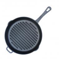 Чугунная сковорода гриль Биол 24 cм (1124)