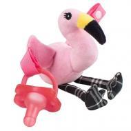 Пустушка Dr. Brown's з іграшкою Фламінго 0-12 міс Рожевий
