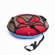 Надувные санки-ватрушка Kospa 100 см Усиленный Красный/Коричневый (074)