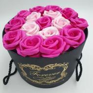 Подарунковий набір мила Forever I love you 16 в подарунковій коробці Рожевий