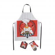 Текстильный кухонный набор XOPC-M Хорошая хозяйка фартук/прихватка/рукавица (4011-6)