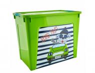 Контейнер Алеана Smart Box з декором My Car 40 л Салатовий (MAN-22939)