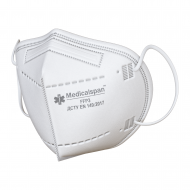 Респіратор-маска захисна Medicalspan FFP3 KN95 п'ять шарів без клапана (16525)