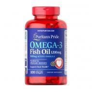 Риб'ячий жир Омега-3 жирні кислоти Puritan's Pride Omega-3 Fish Oil EPA 318/DHA 204 1200 mg 100 softgels (07205-01)