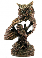 Статуэтка Сова с совенком Classic Art 30 см