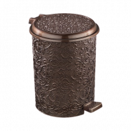 Ведро для мусора с педалью Elif Ажур 17 л Коричневый (326)