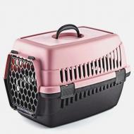 Переноска для тварин Plast Чорно-рожевий (MR12356)