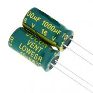 Конденсатор електролітичний алюмінієвий 1000мкФ 16В 105С 10 шт. (151)