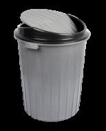 Бак для мусора с вращающейся крышкой Irak Plastik 70л серый TP 2231