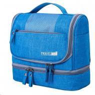 Складной дорожный органайзер для косметики и средств личной гигиены компактная сумка косметичка (5469749760) Голубой