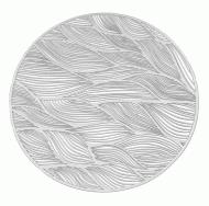 Серветка сервірувальна 38 см Сріблястий (5469)