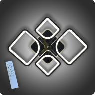Люстра светодиодная Vatan Light Ромбы-4 с пультом 120 Вт Хром (01178)