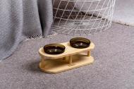 Підставка з мисками для собак і котів Pets Lounge Bowl 2х200 мл Black
