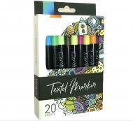 Маркери для тканини WORISON 20 кольорів (YW-FMP020)