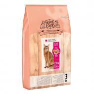 Корм сухий HOME FOOD Здорова шкіра та блиск шерсті Індичка та лосось для дорослих котів 3 кг