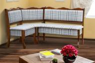 Кухонний куточок з дерева Мікс Меблі Шотландія без столу м'який Коньячний