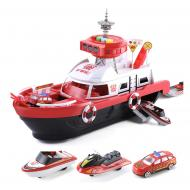 Корабель Six-six-zero пожежний зі світлом і звуком Червоний (058143)