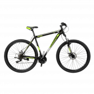 """Велосипед Cross Shark 2021 27,5"""" рама 38 см Черный/Жовтий"""