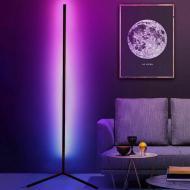 Угловая напольная RGB LED лампа с пультом с регулируемой яркостью Черный (120.649)
