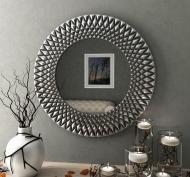 Зеркало настенное VELKA Diamond в серебряной раме 80 см