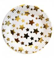 Паперові тарілки Зірки картон високої якості 10 шт. 18 см