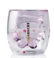 Чашка стеклянная с двойным дном Starbucks Кошачья лапа 175 мл