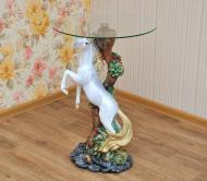 Столик журанальный декоративный Конь стекло 55 см