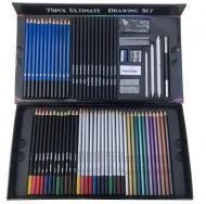 Великий набір для малювання олівці 75 предметів Art Planet
