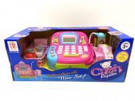 Касовий апарат Limo Toy LF1018B з мікрофоном/світло/звук Рожевий (37626148)