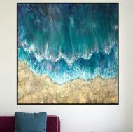 Картина на холсте ArtSale Абстракция 100х100 см RA0035