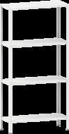 Стелаж металевий 4х100 кг/п 2500х700х300 мм на болтовому з'єднанні