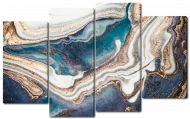 Модульная картина Interno Искусственный холст Красота мрамора 126х80см (Z2236L)