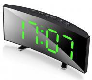 Часы настольные электронные зеркальные изогнутые с LED подсветкой (VST 6507)