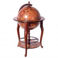 Глобус бар напольный Brigant сфера 45 см Коричневый (MG45001RN09)