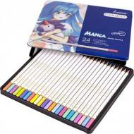 Набір кольорових олівців Marco Chroma Manga в металевому пеналі 24 шт. (8550-24TN)