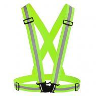 Світловідбиваючий пояс-жилет для велосипедистів UFT waistcoat Green