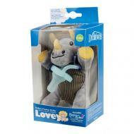 Пустушка в комплекті з іграшкою Динозавр 0-12 міс Блакитний