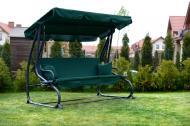 Садова гойдалка розкладна Relax Plus 2 подушки Зелений (RP-01 Green)