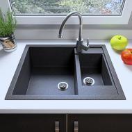 Мийка кухонна Grant Duplex Графіт