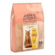 Корм сухий HOME FOOD Індичка та креветка для дорослих котів великих порід 1,6 кг
