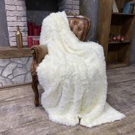 Плед Koloco Травка 210х230 см Молочный