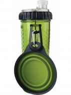 Пляшка з мискою 720 мл Dexas Pet Meal Зелений