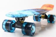 """Пенни борд Penny Style 22"""" светящиеся Fire Blue (2T2034)"""