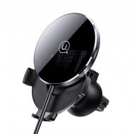 Автомобільний магнітний тримач USAMS CD164 |15W 3A| з бездротовою зарядкою QI