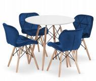 Комплект меблів Jumi Scandinavian Velvet стіл і стільці Blue-4
